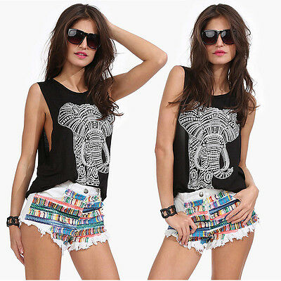 Fashion Womens Summer Vest Top Sleeveless Blouse Casual Tank Tops T-Shirt M-XL