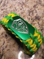 Legend of Zelda Master Shield Paracord Gamer Bracelet- handmade-para cord