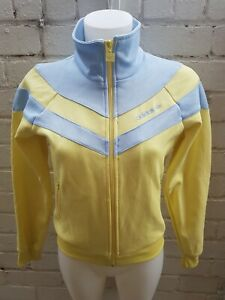 Adidas-Originals-Track-Top-Size-12-Ladies-Jacket-Women-s-Yellow-Blue