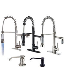 Kitchen Faucet Swivel Spout Pull Down Sprayer Deck Mount ...