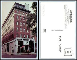 GEORGIA-Postcard-Savannah-John-Wesley-Hotel-L29