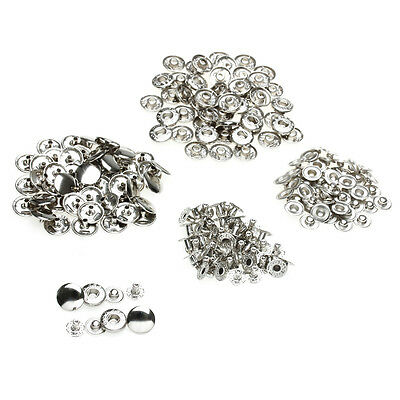 50 Sets Metal Sewing Press Studs Buttons Snap Fastener Popper 12mm
