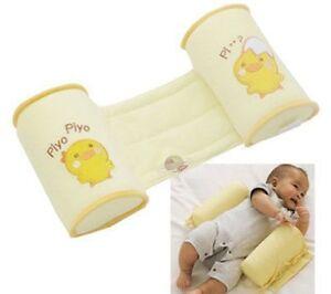 Infant-Baby-Toddler-Safe-100-Cotton-Anti-Roll-Pillow-Sleep-Flat-Head-UK