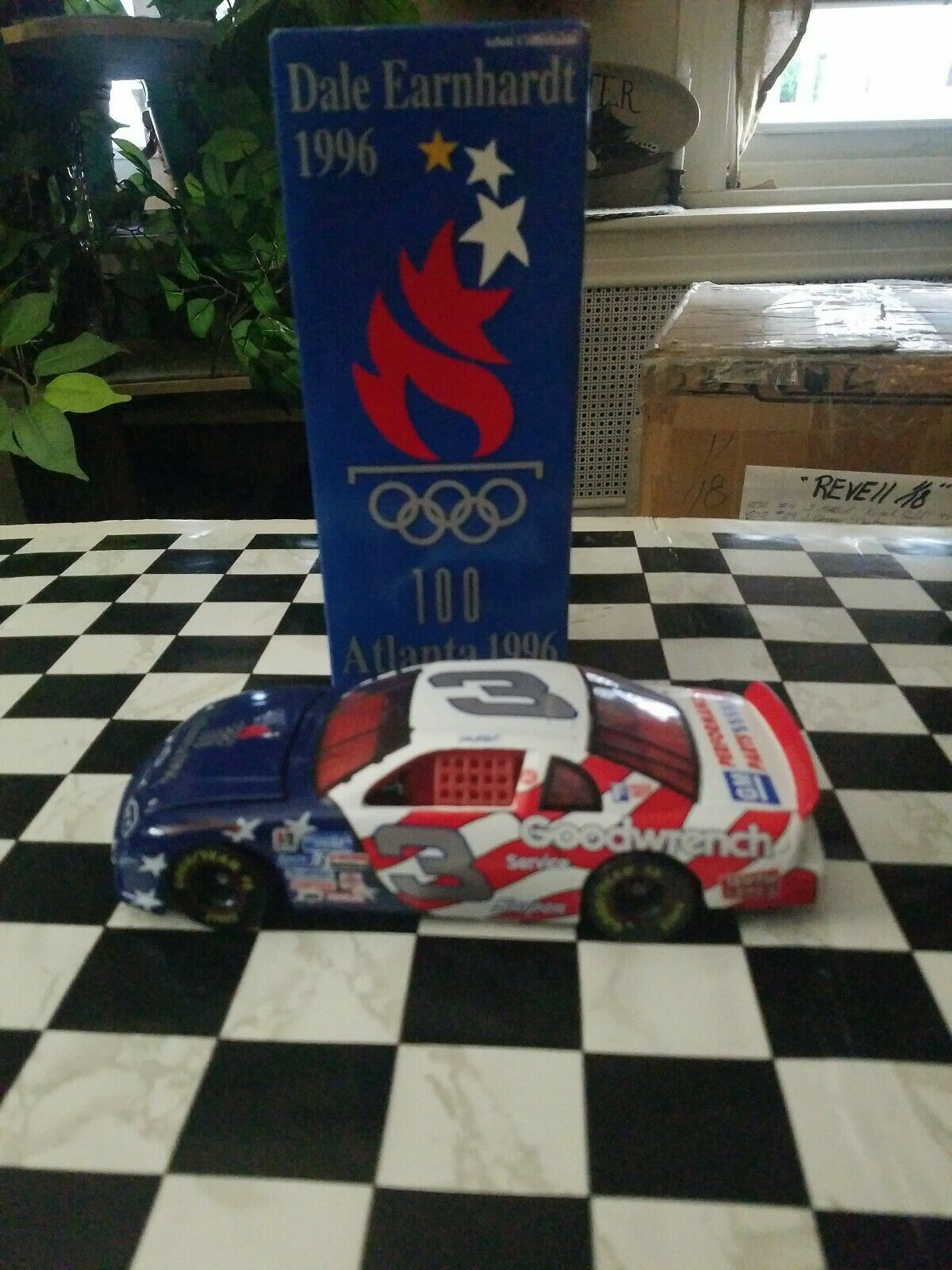 1 24 DIE CAST NASCAR ACTION 1996 OLYMPIC 100 YEARS ATLANTA DALE EARNHARDT