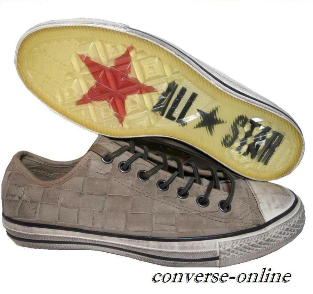 Men CONVERSE All Star JOHN VARVATOS Brown WOVEN SUEDE Trainers shoes SIZE UK 8.5