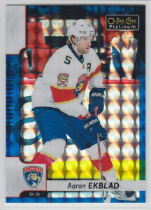 2017-18-O-PEE-CHEE-PLATINUM-AARON-EKBLAD-BLUE-CUBES-99-OPC-Parallel-Panthers