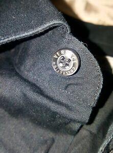 Con Versace L Size Inserti Collection Camicia Pelle Shirt 4116 Cotone Leather KuTFJc31l