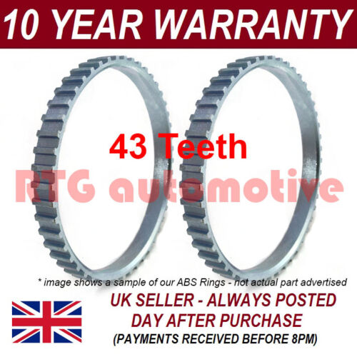 2X FOR SUZUKI SWIFT MK3 43 TOOTH 63MM ABS RELUCTOR RING DRIVESHAFT CV JOINT 1903