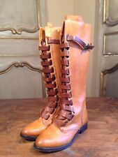 New Free People Anthropologie Vero Cuoio Womens Knee High Riding Boots Size 5.5