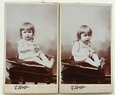 2 CDV PHOTO BRON à LYON bébé enfant  M508