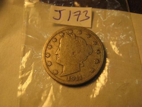 1911 USA Liberty Nickel Rare Coin ID#J173