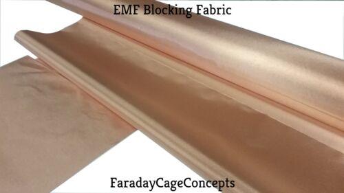 """43/"""" x 40 FEET of Material EMF RFID RF Shielding Copper Fabric Roll"""