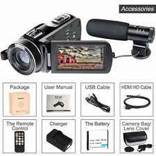 Besteker Wifi Camcorder Full HD with Ext. Mic and Wide Angle Lens