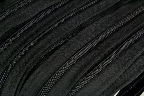 Genuine YKK Polyester//Nylon Coil//Continuous Zipper Size #5 Tape Only per Metre