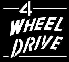 Jeep 4 Wheel Drive WILLYS Tailgate Decal - CJ3A CJ3B CJ2A CJ5 M38 GPW MB Oracal