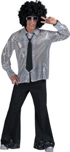 Morris Costumes Men/'s 70/'s Disco Party Poly-Cotton Pants Black L FF608214LG