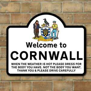Image Is Loading Funny Welcome To Cornwall Sign Joke