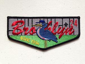 SHUSHUGA-OA-LODGE-24-SCOUT-SERVICE-PATCH-FLAP-1994-NOAC-DELEGATE-BROOKLYN-MINT