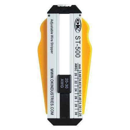 OK INDUSTRIES ST-500 Adjustable Wire Stripper,20-30 AWG