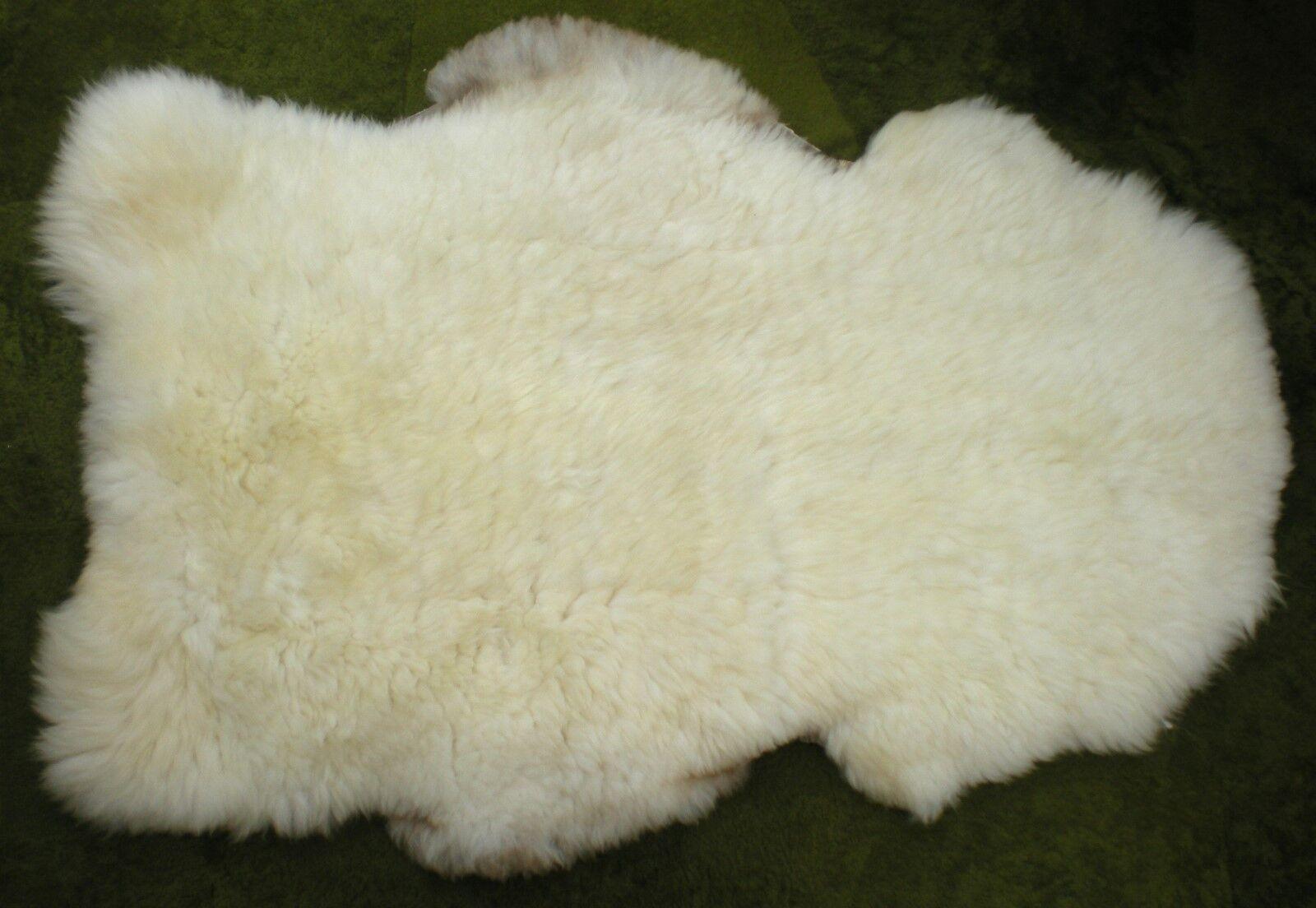XXL 100% GENUINE NATURAL RUSTIC RARE BREED SHEEPSKIN RUG Ivory   Cream   RX02