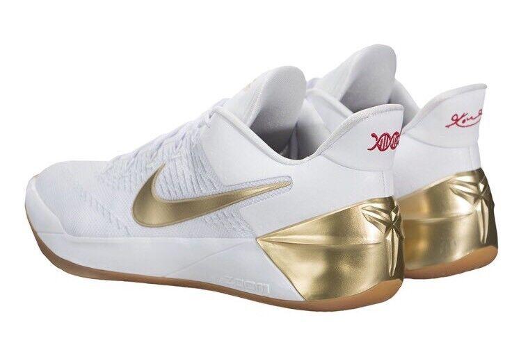 Nike Kobe 12 Metallic A.D. EP XII White Metallic 12 Gold Olympic Big Stage 852425-107 Sz 14 4863ef