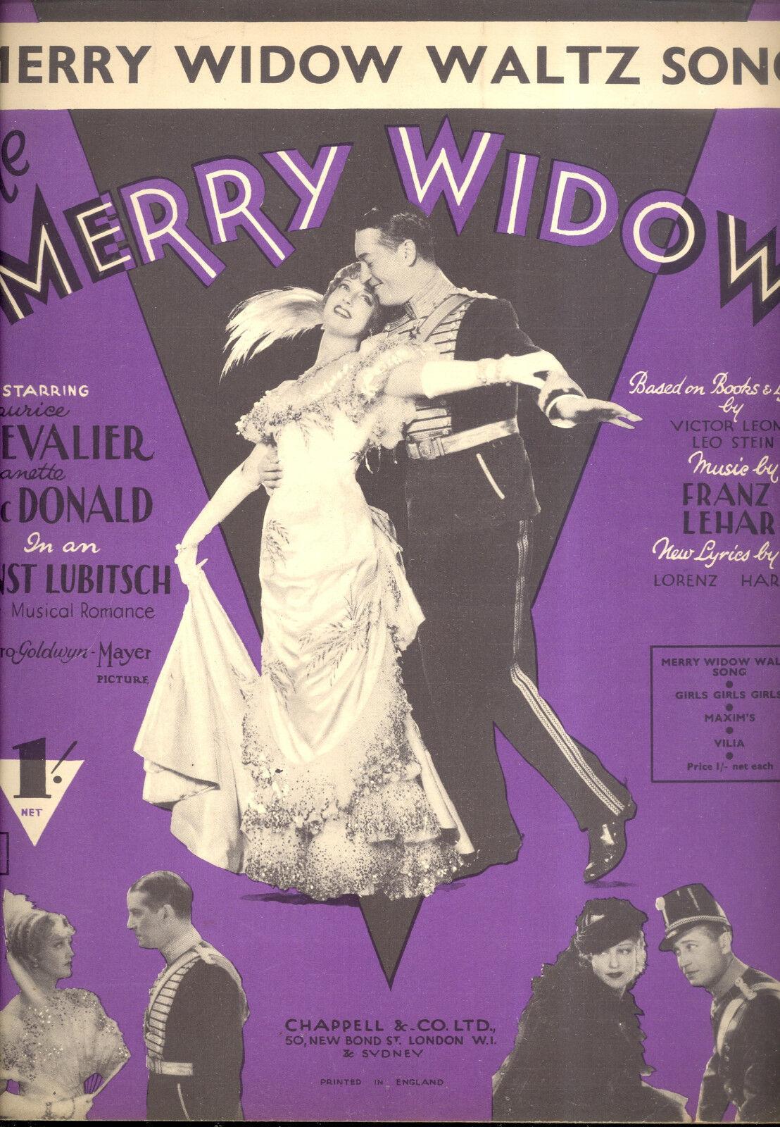 Merry Widow Notenblatt   Merry Widow Waltz Lied   Jeanette Macdonald Britischer