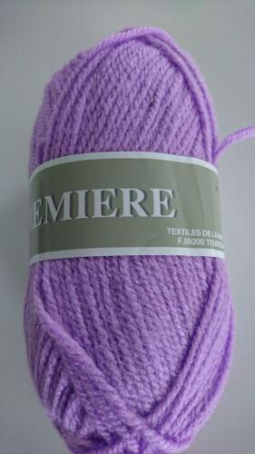 fabriqué en France 10 pelotes laine acrylique  couleur orchidée