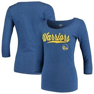 Golden-State-Warriors-5th-amp-Ocean-by-New-Era-Women-039-s-Jersey-3-4-Sleeve-T-Shirt