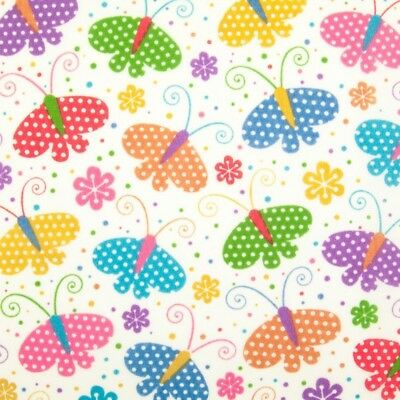 Flowers /& Butterflies Polycotton Fabric