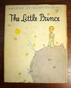 THE-LITTLE-PRINCE-Antoine-de-Saint-Exupery-1943-HC-DJ-illustrated-children-039-s-bk