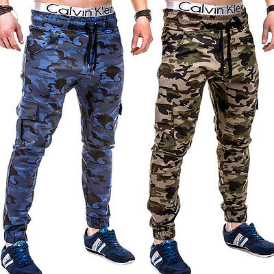 G.b.d. Chinohose Jogger Chino Cargo Hose Jogginghose Style Camouflage Khaki/navy