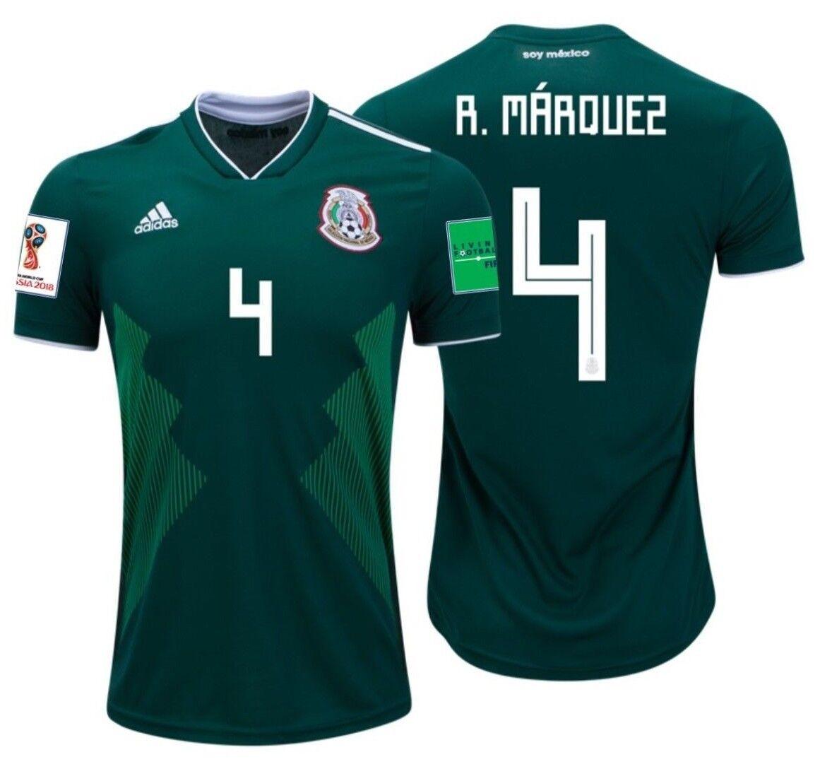 Adidas Rafael Marquez México Home Jersey Copa Del Mundo 2018 Parches