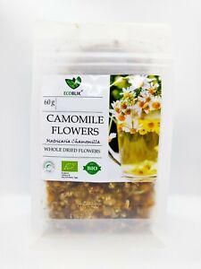 Pure-ORGANIC-CAMOMILE-Loose-Leaf-Tea-Big-Flowers-60g-Matricaria-Chamomilla-UK