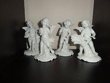 c.20th - Vintage Dresden Germany Porcelain Figurine Figure Cherub Angel Set of 4