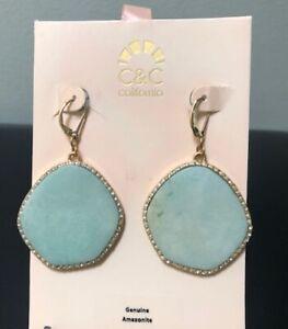 Amazonite Statement Earrings