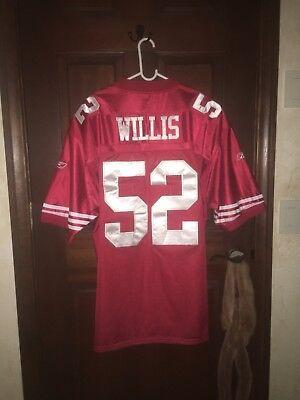 Mens Reebok Sz 56 PATRICK WILLIS 49ers NFL Football Jersey ~ STITCHED | eBay