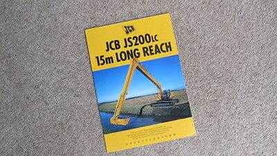 Honest Jcb Js200lc 15m Long Reach Tracked Excavator Brochure 9999/4158 9/93 Circa 1993 Punctual Timing Other Tractor Publications