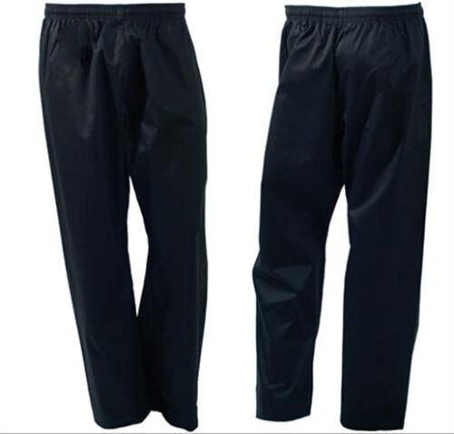 Black Pant Cotton//Poly 8-OZ Adult New Taekwondo//Karate White Fast Shipping