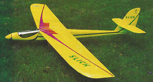 Details about Slick Motor Glider Electric Powered Sailplane  Plans,Templates, Instructions 70ws