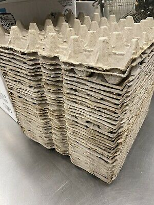 30 EGGS EACH 7 CHICKEN EGG CARTONS PAPER TRAYS FLATS HATCHING CRAFT POULTRY