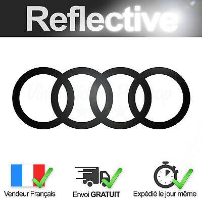 Sticker Audi Black Reflective 16 Cm Sticker Logo Black Reflective Ebay
