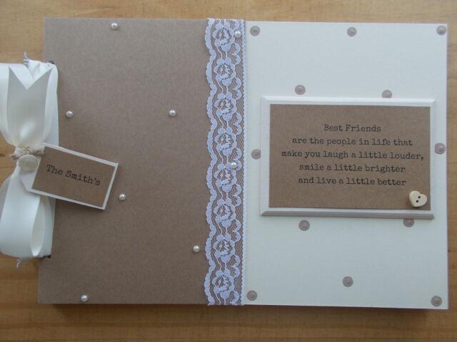 A4 tamaño Guest book//photo album//scrapbook Personalizado Aniversario.