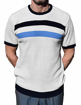 Art Gallery Clothing Off Texturé Blanc Contraste Polo Mod Northern Soul Mods
