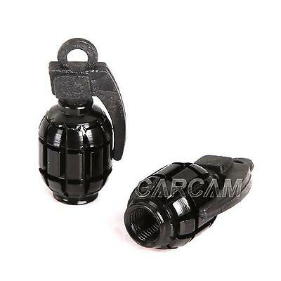 Black Tire Wheel Grenade Valve Cap For Harley XL Sportster V Rod Hugger 883