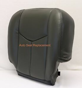 2003 2004 2005 2006 chevy silverado driver bottom leather seat cover dark gray ebay. Black Bedroom Furniture Sets. Home Design Ideas