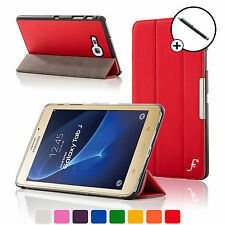 Leather Red Folding Smart Case Cover Cover Samsung Galaxy Tab J / J Max Stylus