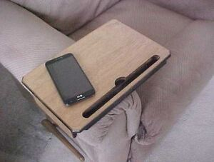 Table Tray Arm Rest Tv Remote Tablet Stand Coffee Dinner Serving