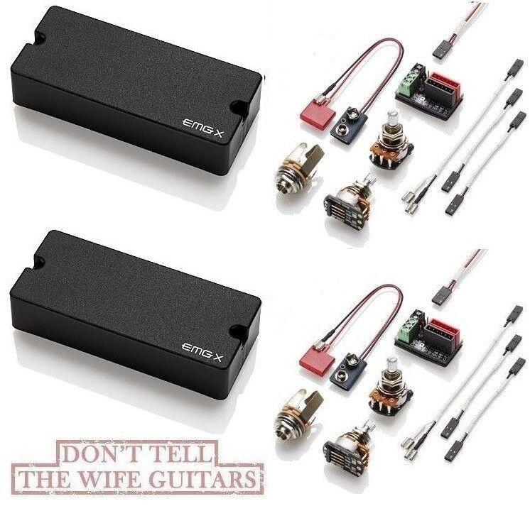 Emg 81-7X + 85-7X Negro 7 Cuerdas Guitarra Activo Soapbar Soapbar Soapbar Pickup Set Ollas & Cableado  descuento de ventas en línea
