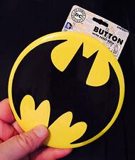 "BATMAN LARGE 6"" BAT EMBLEM BUTTON DC COMICS"