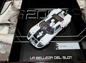 Fly Car Model La belleza del Slot 2004 Ford GT40 Edicion numerada y limitada
